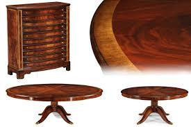 Round Dining Table For 6 With Leaf Extra Large Round Mahogany Perimeter Table And Buffet