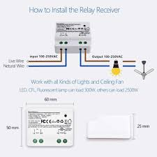 How To Install Remote Control Lighting Wireless Switch Kinetic No Battery Needed No Wiring Needed Easy To Install Remote Control Light Lamps Ventilator Exhaust Fan