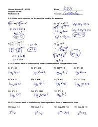 honors algebra 2 m328 name chapter 4