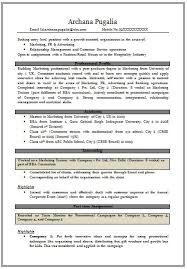 Mba Marketing Fresher Resume Sample #7427