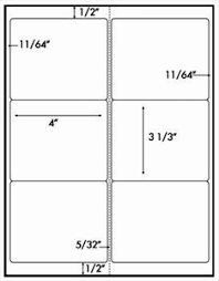 Avery 3 1 3 X 4 Template 6 Labels Per Sheet Avery 5164