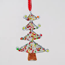Maasai Bead Wire Christmas Tree Ornament