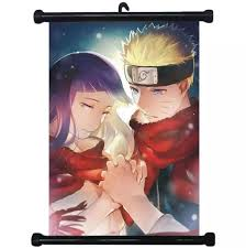Collectibles Naruto Hinata Japan Anime Poster Home Décor Wall Scroll  40*60cm Animation Art & Characters Japanese, Anime