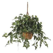 Amazon.com: Nearly Natural English Ivy Hanging Basket Silk Plant: Home &  Kitchen