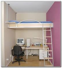Fancy Queen Loft Bed With Desk Underneath M84 For Home Decoration Ideas  with Queen Loft Bed