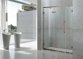 customized frameless shower doors 1400x2000mm european standards for apartment