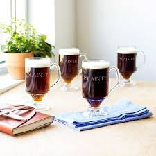clear glass coffee mugs with handles lovely personalized irish coffee glass mugs 10 oz set of