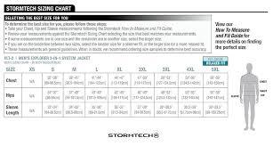 Stormtech Size Chart Mens Stormtech Tritium Shell Jacket Embroidered