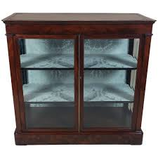 mid 19th c biedermeier flame mahogany 2 door cabinet glass cabinet