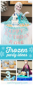 Be enchanted by this beautiful Frozen birthday party! The Elsa and Anna  dessert tables are