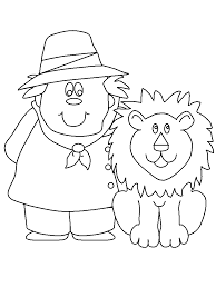 zookeeper coloring page.  Coloring Zookeeper People Coloring Pages With Page