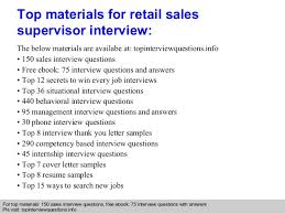 retail s supervisor interview questions and answers  interview questions answers pls topinterviewquesitonsinfo 9
