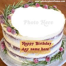 name editor happy birthday cake with