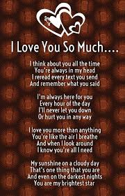 Quotes About How Much I Love You Classy I Love You So Much Poems For Him And Her With Images Quotes