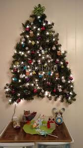 Wall Christmas Trees 3 D Wall Christmas Tree I Made This With Two 9 Ft Strands Of Pre