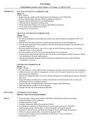 sample of contracts contracts coordinator resume samples velvet jobs