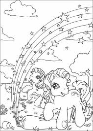 Small Picture Rainbow in ponyland coloring pages Hellokidscom