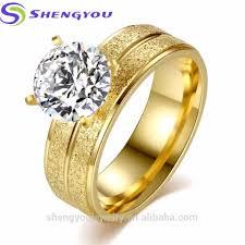 whole jewelry china 316l snless steel big diamond rings