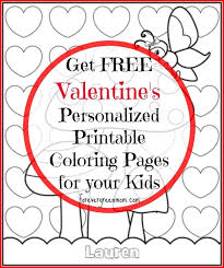 Free Personalized Printable Coloring Pages For Valentines
