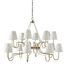 lucio chandelier large antique brass