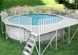 above ground pool deck kits. Above Ground Pool Fence Kits Aluminum Deck Walk Combos  Gli