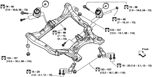 repair guides engine mechanical components cylinder head 1 removing the front suspension member altima
