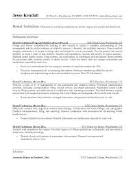 Example Of A Dental Assistant Resume Dental Resume Template Dental