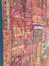 indian wall hangings antique patchwork tapestry embroidered wall hanging mirror rug indian wall hangings uk only
