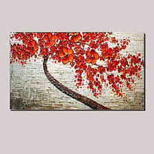 cherry blossom tree of life floral oil painting canvas wall art with stretched frame ready on canvas wall art tree of life with cherry blossom tree of life floral oil painting canvas wall art