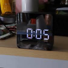 ds-6613 square <b>hd mirror alarm clock</b> multifunction digital alarm ...