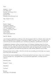 Veterinary Technician Cover Letter Samples Adriangatton Com