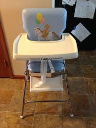 image result for blue high chair white 80s graco