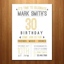 30th birthday invitation ideas 30th surprise birthday party invitation template