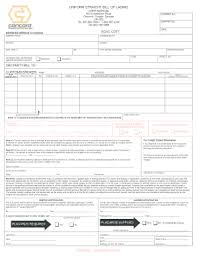 bill of lading printable form uniform straight bill of lading form fill online printable