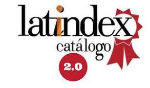 Logotipo do Latindex com link externo para exibir a página da Revista no indexador