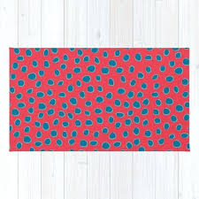teal red rug polka dots spots red turquoise teal rug teal and red kitchen rug