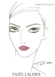 Estee Lauder Chart Estee Lauder Anthony Vaccarello Fw14 Face Chart Beauty