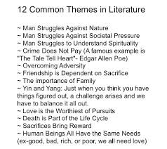 best theme images teaching reading learning and booksdirect ldquo12 common themes in literature rdquo