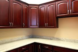 Cherry Oak Wood Cabinets Cabinet And Granite Floor With  C23
