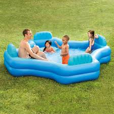 Intex inflatable lounge chair Cup Holder Intex Inflatable Swim Center Family Lounge Pool 105 105 26 For Inflatable Lounge Chair Odditymall Intex Inflatable Swim Center Family Lounge Pool 105 105 26 For