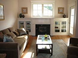 Warm Living Room Living Room Gray Sofa Gray Recliners Brown Chairs White Shelves