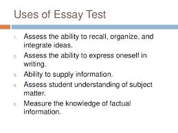 essay type test 6 uses of essay