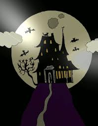 image this haunted house drawing