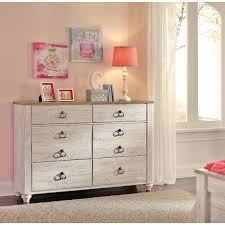 Classic Rustic Whitewashed Youth Dresser  Millhaven