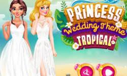 princess wedding theme tropical