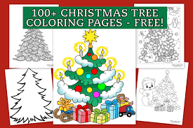 Show them the proper way how to color. Top 100 Christmas Tree Coloring Pages The Ultimate Free Printable Collection Print Color Fun