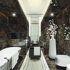 Marble Bathroom Tile Double Door Cabinets Level Shape Drawers Dark ...