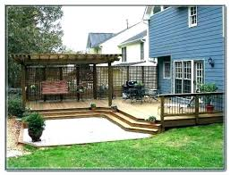 Decking Designs For Small Gardens Delectable Elevated Deck Design Ground Level Deck Ideas Ground Level Deck Ideas