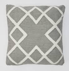 dove grey juno luxury handwoven outdoor indoor cushion