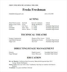 Acting Resume Example Actors Resume Template Acting Resumes Actor